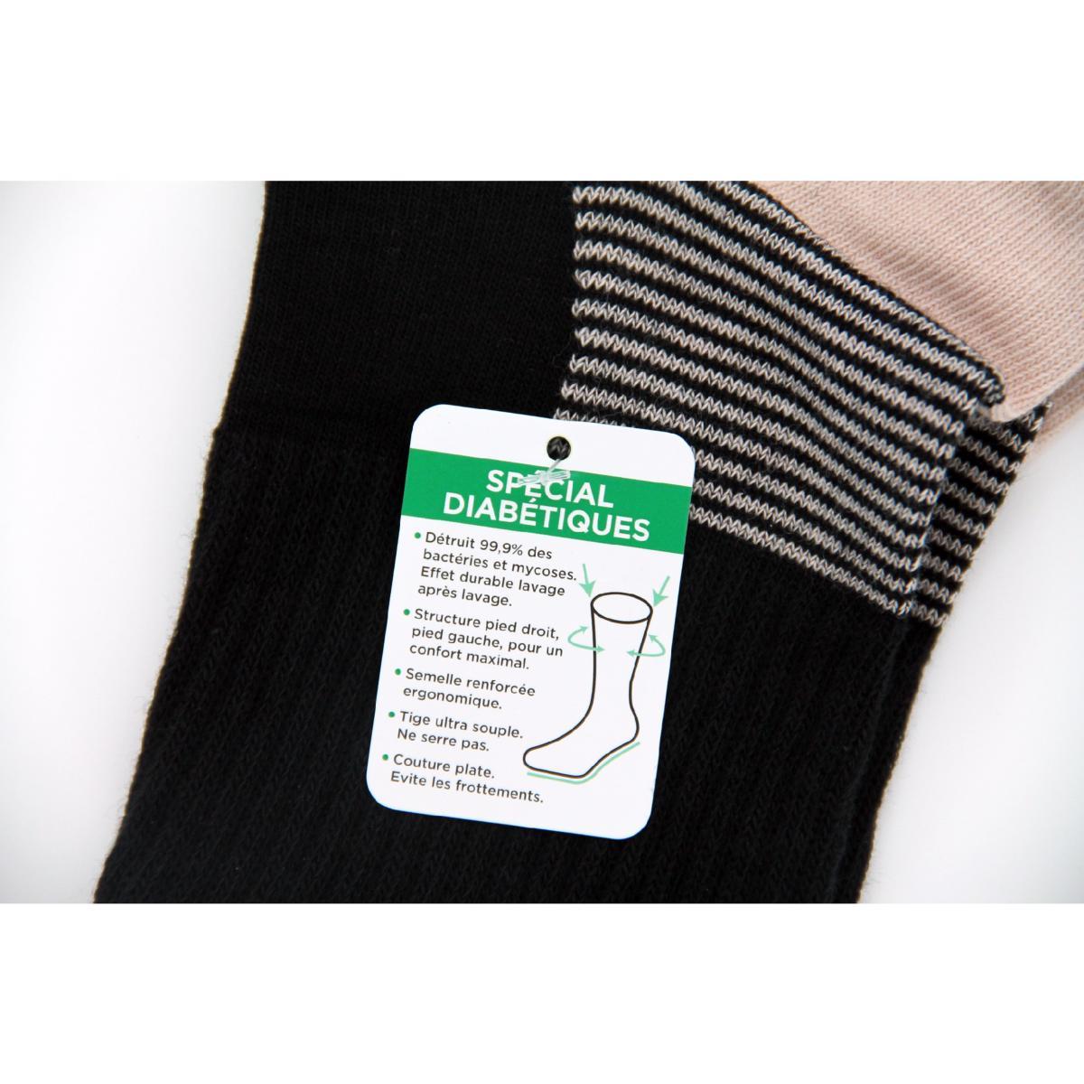 acheter en ligne d71f9 5a6e4 Chaussettes pour pieds diabétiques - Olympia